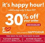 Payless Shoesource 30% off Everything Online Only 4-7 p.m. today ...