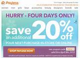 Payless Shoes: 20% off Printable Coupon - Save ... | Shoes Printable ...
