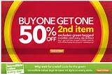 Payless Shoes: Buy 1 & Get 2nd at 50% off