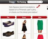 Zappos PinPointing Service Recommends Products Based on Your Pinterest ...