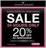 Deal of the Day – Chinese Laundry 24 Hour Sale! 20% OFF EVERYTHING!