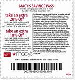 Macy's has a printable 20% off coupon for REGULAR, SALE & CLEARANCE ...