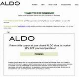 Aldo: 10% off your pur chase. Expires 8-31-08