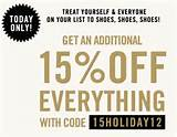 ... an additional 15% off everything at Aldo with coupon code 15HOLIDAY12