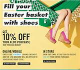 Aldo Shoes Canada Save 10% off Printable Coupon or Promotional Code ...