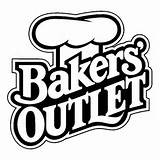 bakers outlet logo logos brand design