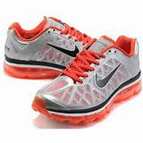 Nike Wmns Air Max 2011 Mesh silver/orange running shoes for sale